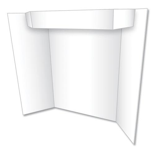 Too Cool Tri-Fold Poster Board, 24 x 36, White/White