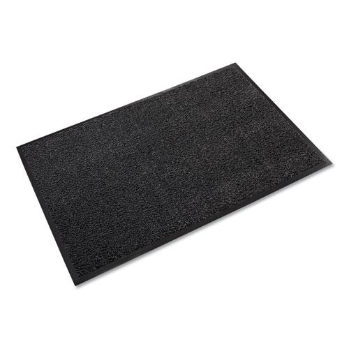 Dust-Star Microfiber Wiper Mat, 36 x 60, Charcoal