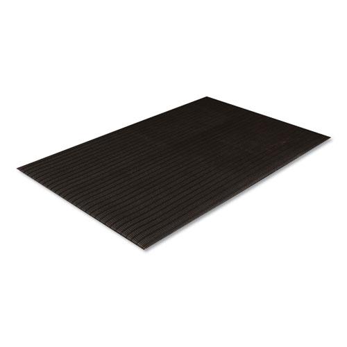 Crown Ribbed Vinyl Anti-Fatigue Mat, 36 x 60, Black