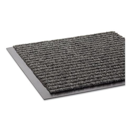 Crown Needle Rib Wipe and Scrape Mat, Polypropylene, 36 x 60, Gray