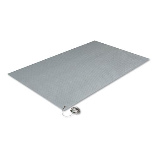 Crown Antistatic Comfort-King Mat, Sponge, 24 x 60, Steel Gray