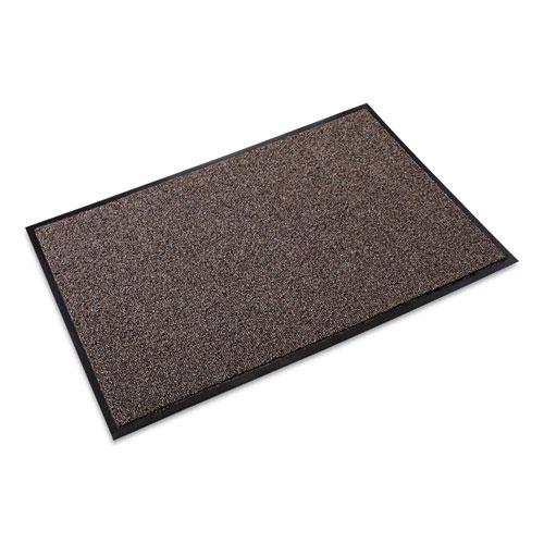 Crown Cross-Over Indoor/Outdoor Wiper/Scraper Mat, Olefin/Poly, 24 x 36, Brown