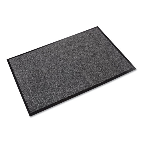 Walk-A-Way Indoor Wiper Mat, Olefin, 48 x 72, Gray