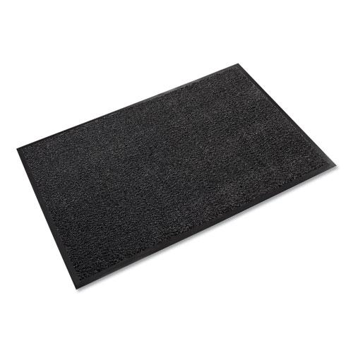 Dust-Star Microfiber Wiper Mat, 48 x 72, Charcoal