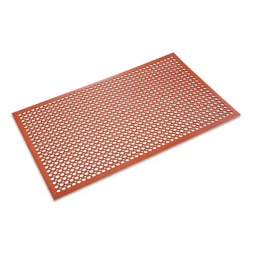 Safewalk-Light Heavy-Duty Anti-Fatigue Mat, Rubber, 36 x 60, Terra Cotta | by Plexsupply