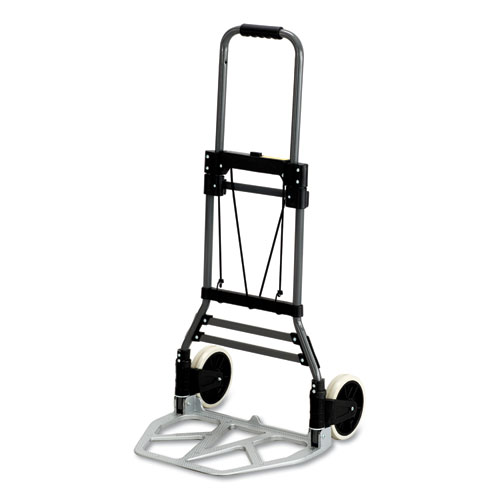 Stow-Away Collapsible Medium Hand Truck, 275 lb Capacity, 19 x 17.75 x 38.75, Aluminum | by Plexsupply