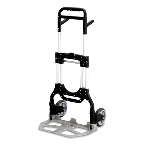 Stow-Away Heavy-Duty Hand Truck, 500 lb Capacity, 23 x 24 x 50, Aluminum | by Plexsupply