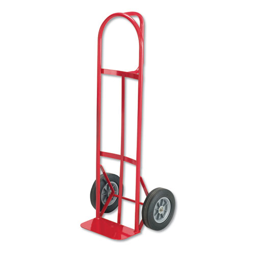 Two-Wheel Steel Hand Truck, 500 lb Capacity, 18w x 47h, Red | by Plexsupply