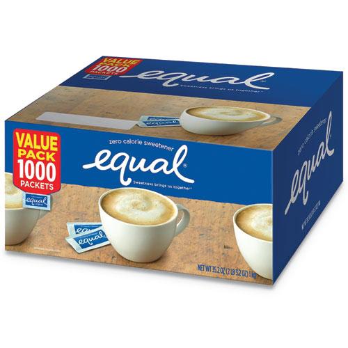 Equal® Zero Calorie Sweetener, 0.035 oz Packet, 1000/Box