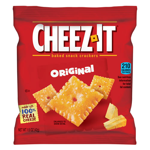 Cheez-It Crackers, 1.5 oz Single-Serving Snack Pack, 8/Box