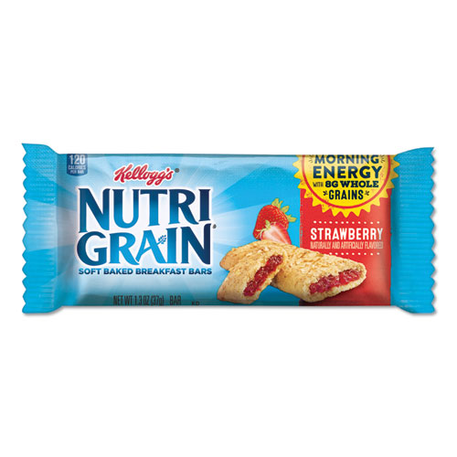 Kellogg's® Nutri-Grain Cereal Bars, Asstd: Apple, Blueberry, Strawberry, 1.3oz Bar, 48/Ctn