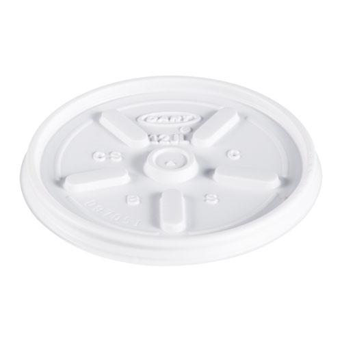 Plastic Lids, for 12oz Hot/Cold Foam Cups, Vented, 1000/Carton
