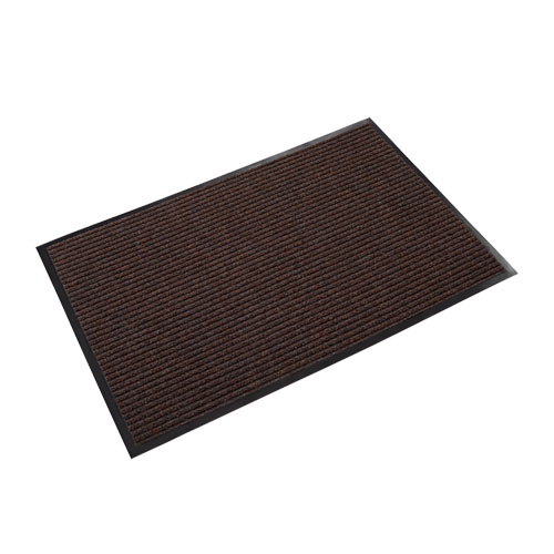 Needle Rib Wipe and Scrape Mat, Polypropylene, 36 x 60, Brown | by Plexsupply