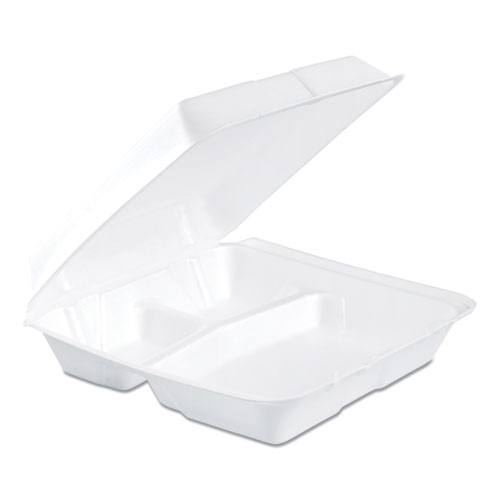 Dart® Carryout Food Container, Foam, 1-Comp, 9 3/10 x 6 2/5 x 2 9/10, 200/Carton