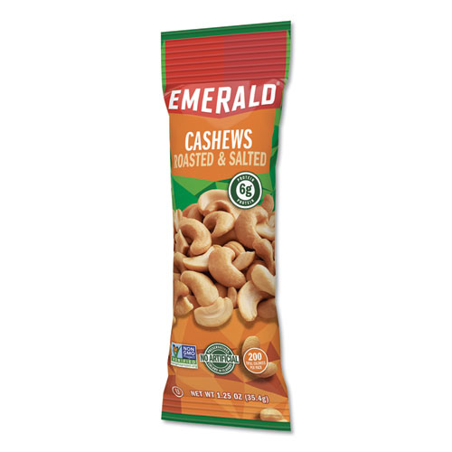 Cashew Pieces, 1.25 oz Tube Package, 12/Box