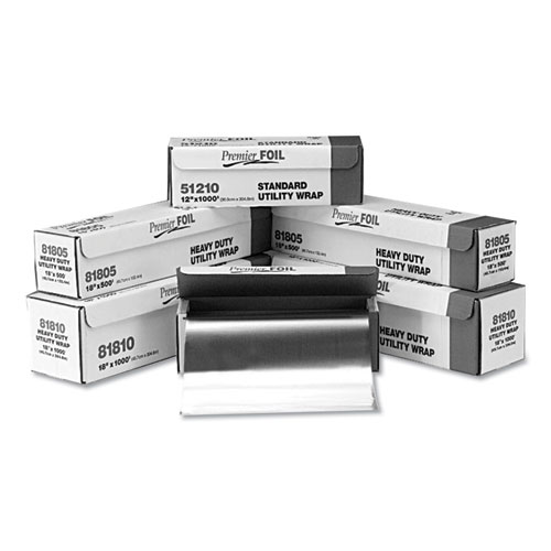 Standard Aluminum Foil Roll, 12 x 500 ft