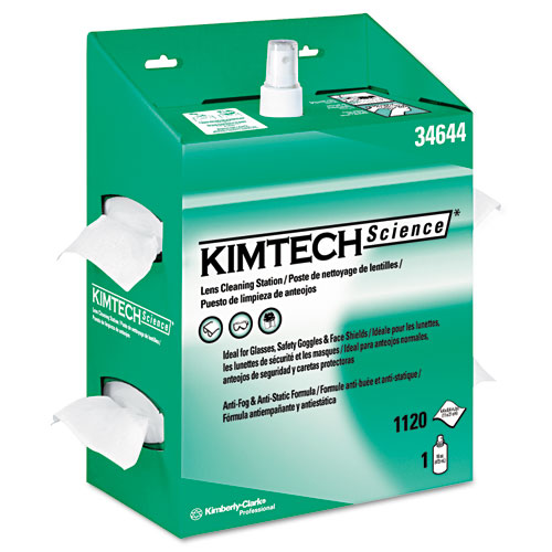 KIMWIPES Lens Cleaning, 16oz Spray, 4 2/5 X 8 1/2, 1120 Wipes/Box, 4/Carton