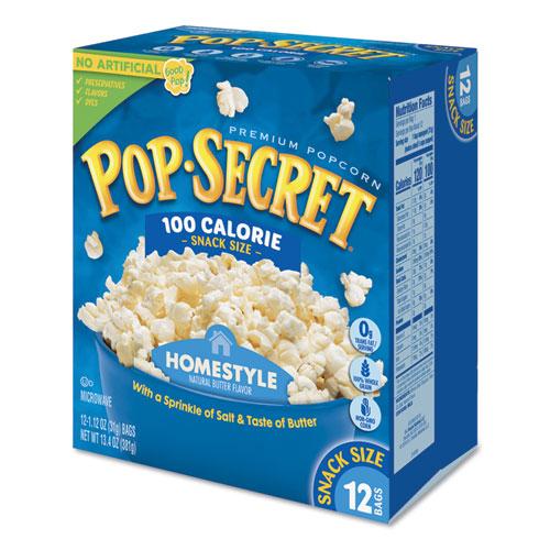 Pop Secret® Microwave Popcorn, Homestyle, 1.2 oz Bags, 12/Box