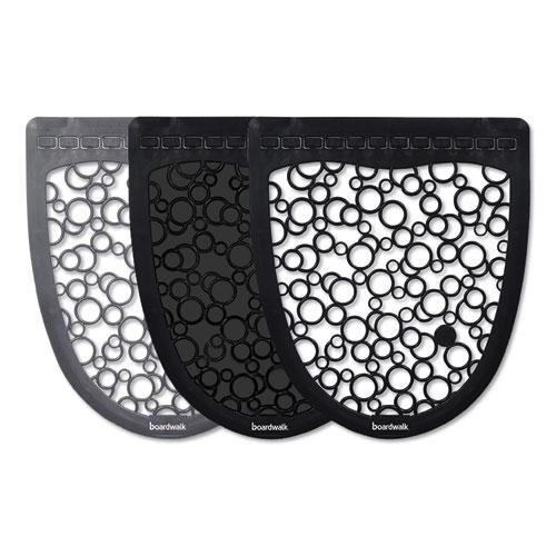 Boardwalk® Urinal Mat 2.0, Rubber, 17.5 x 20, Black/Black, 6/Carton