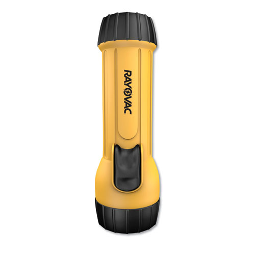 Rayovac® Industrial Tough Flashlight, 2 D Batteries (Sold Separately), Yellow/Black