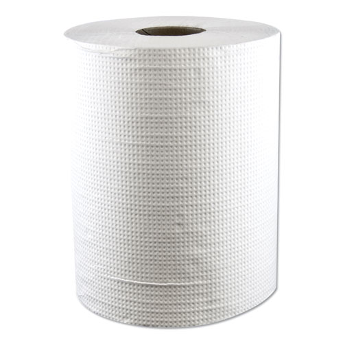 "Morcon Paper Hardwound Roll Towels, Paper, White, 7 4/5"" x 600ft, 12/Carton"