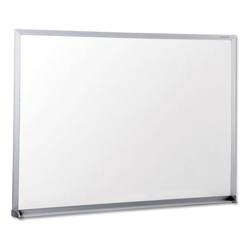 Dry-Erase Board, Melamine, 24 x 18, Satin-Finished Aluminum Frame | by Plexsupply