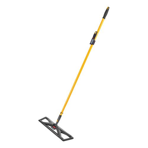 Maximizer Dust Mop Frame with Handle and Scraper, 36 x 5.5, Yellow/Black