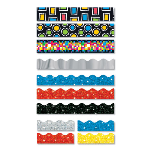 """TREND® Bolder Borders, 2 3/4"""" x 42"""", Bold Strokes Rectangles, Assorted"""