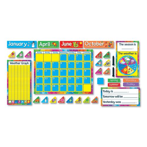 "Year Around Calendar Bulletin Board Set, 22"" x 17"" | by Plexsupply"