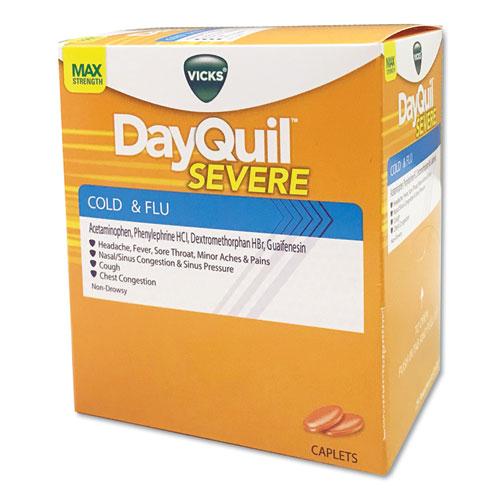 Cold  Flu Caplets, Daytime, Severe Cold  Flu, 25 Packs/Box
