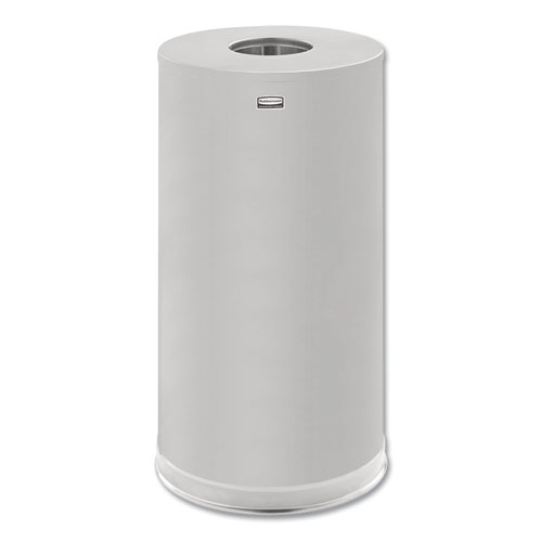 Rubbermaid® Commercial European & Metallic Series Drop-In Top Receptacle, Round, 15gal, Satin Stainless