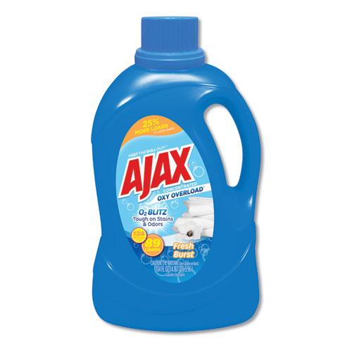 Laundry Detergent Liquid, Oxy Overload, Fresh Burst Scent, 89 Loads, 134 oz Bottle, 4/Carton