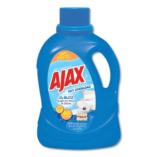 Laundry Detergent Liquid, Oxy Overload, Fresh Burst Scent, 40 Loads, 60 oz Bottle, 6/Carton