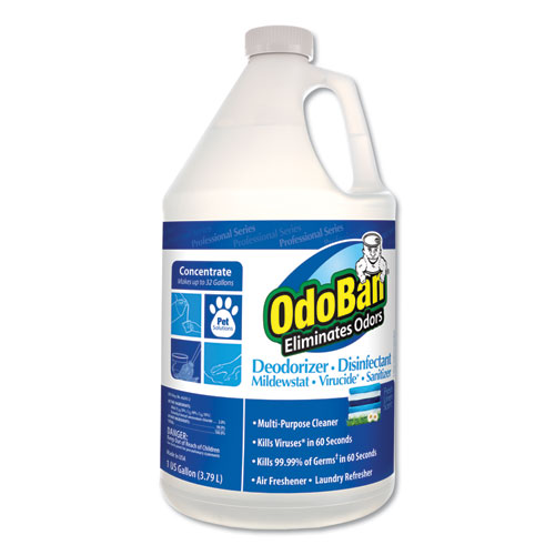 OdoBan® Odor Eliminator and Disinfectant, Fresh Linen, 128 oz, 4/Carton