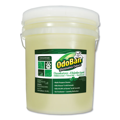 Concentrated Odor Eliminator and Disinfectant, Eucalyptus, 5 gal Pail