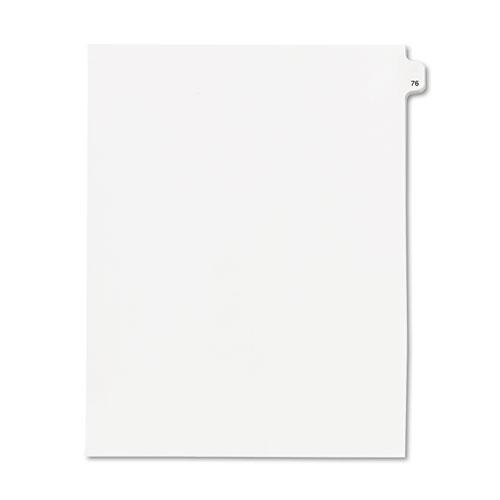 """Kleer-Fax® 80000 Series Legal Index Dividers, Side Tab, Printed """"76"""", 25/Pack"""