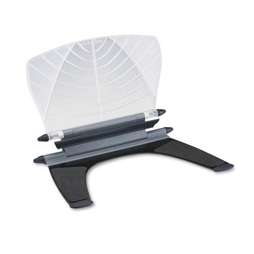 Insight In-Line Desktop/Platform Copyholder w/SmartFit System, Metal, White | by Plexsupply