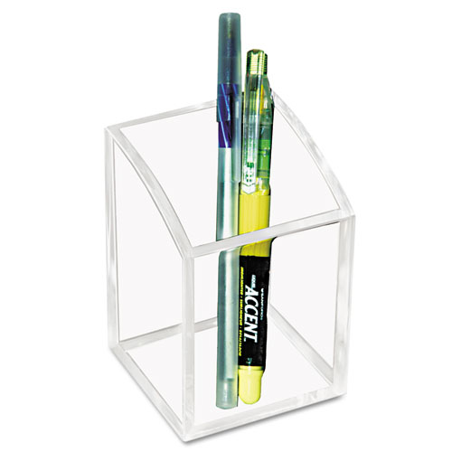 Acrylic Pencil Cup, 2 3/4 x 2 3/4 x 4, Clear | by Plexsupply