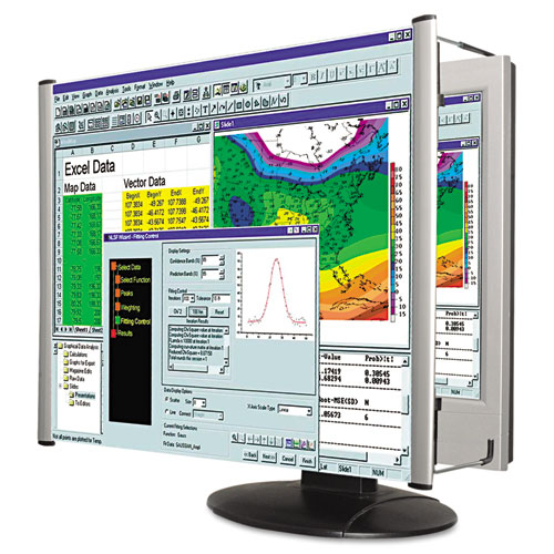 "LCD Monitor Magnifier Filter, Fits 19""-20"" Widescreen LCD, 16:10 Aspect Ratio 