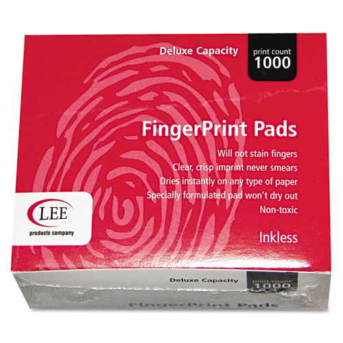 Inkless Fingerprint Pad, 2 1/4 x 1 3/4, Black, Dozen | by Plexsupply