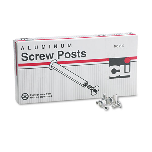 Charles Leonard 3703L Post Binder Aluminum Screw Posts, 3