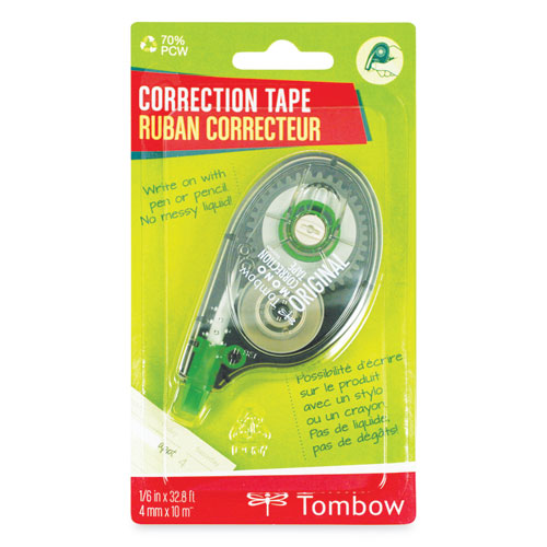 MONO Correction Tape, Non-Refillable, 1/6 x 394, White Tape