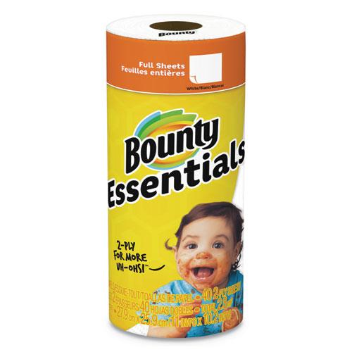 Bounty® Essentials Paper Towels, 40 Sheets/Roll, 30 Rolls/Carton