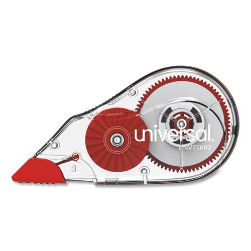 "Universal® Correction Tape Dispenser, Non-Refillable, 1/5"" x 315"", 2/Pack"