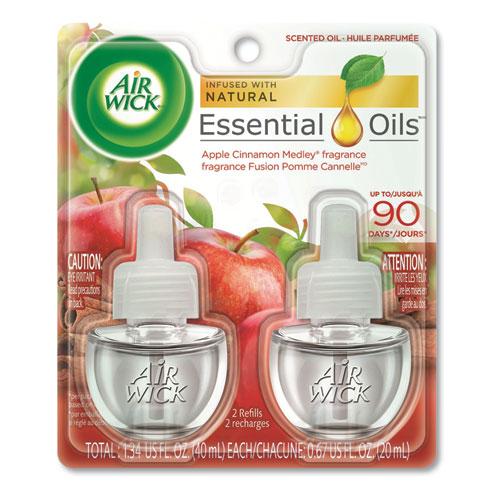 Scented Oil Refill, 0.67 oz, Apple Cinnamon Medley, 2/Pack, 6 Packs/Carton | by Plexsupply