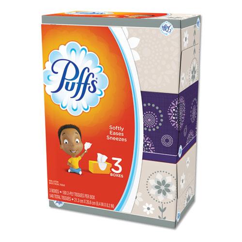 White Facial Tissue, 2-Ply, White, 180 Sheets/Box, 3 Boxes/Pack, 8 Packs/Carton