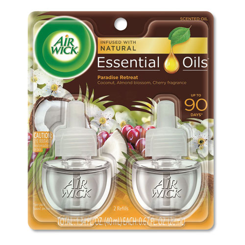 Life Scents Scented Oil Refills, Paradise Retreat, 0.67 oz, 2/Pack, 6 Pack/Ctn