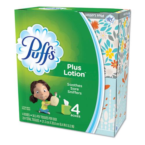 Plus Lotion Facial Tissue, 1-Ply, White, 56 Sheets/Box, 24 Boxes/Carton