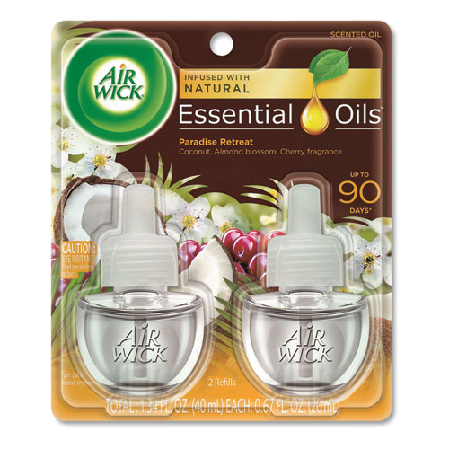 Life Scents Scented Oil Refills, Paradise Retreat, 0.67 oz, 2/Pack