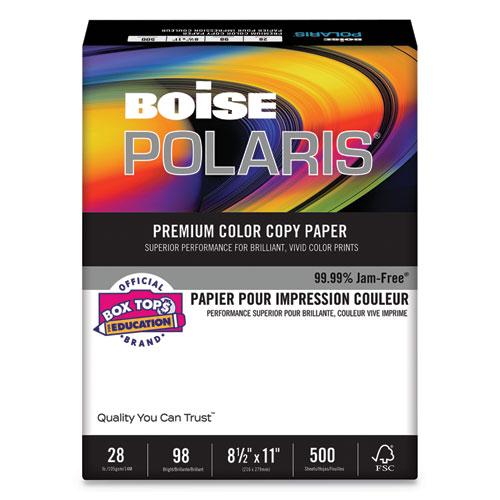 POLARIS Premium Color Copy Paper, 98 Bright, 28lb, 8.5 x 11, White, 500/Ream | by Plexsupply